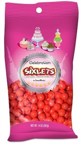 Celebration Sixlets - Red 14oz. Bag