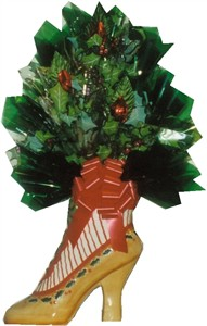 Victorian Holiday Boot Candy Bouquet (out of stock)