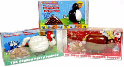 Holiday Animal Candy Poopers Set of 3