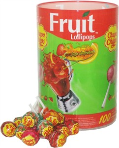 Chupa Chup Fruit Lollipops 100ct. Tub (DISCONTINUED)