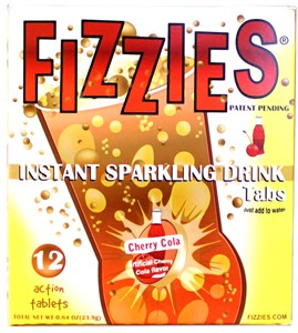 Fizzies Candy Drink - 12 Candy Soda Tablets - Cherry Cola