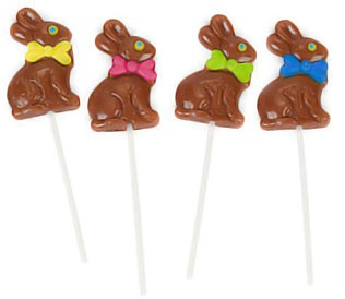 Chocolate Easter Bunny Suckers