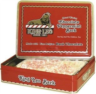 King Leo Chocolate Peppermint Bark Gift Tin (Discontinued)