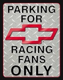 Chevy Racing Parking Sign (Discontinued)