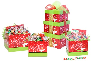 Christmas Snowman Candy Gift Basket