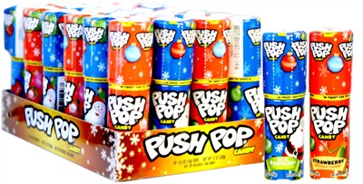 Push Pop Christmas Candy 24ct.