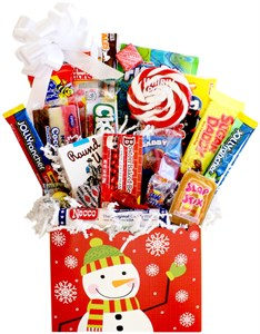 Beary Christmas Retro Candy Gift Basket