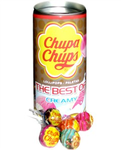 Chupa Chups THE BEST of CREAMY Lollipop Collectible Tin Bank (Coming Soon)