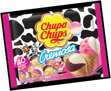 Chupa Chups Cremosa Ice Cream Lollipops 40ct Bag