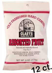 Claey's Old Fashioned Candy Drops - Assorted Fruit 12ct.