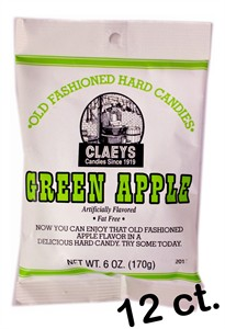 Claey's Old Fashioned Candy Drops - Green Apple 12ct.