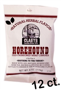 Claey's Old Fashioned Candy Drops - Natural Horehound 12ct.