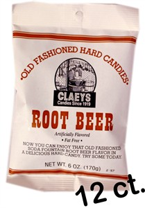 Claey's Old Fashioned Candy Drops - Root Beer 12ct.