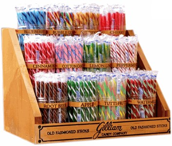 Old Fashioned Candy Stick Display 12 jar