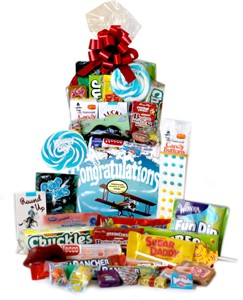 Congratulations Retro Candy Gift Basket