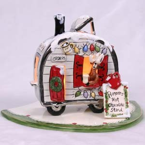 Prancer's Hot Chocolate Stand Candle House (Sold Out)