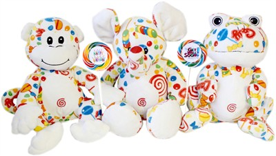 Colorful Plush Candy Animal Gift with Whirly Pop