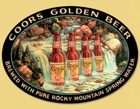 Coors Waterfall Tin Sign (Discontinued)