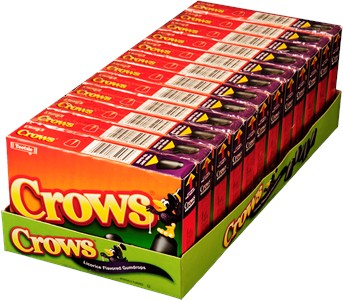 Crows Licorice Flavored Gumdrops Theater Boxes 12ct.