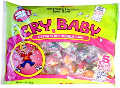 Cry Baby Sour Bubble Gum 12oz.