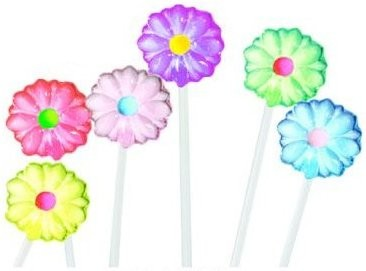 Daisy Flower Twinkle Pops Assorted 7 Flavors - 40ct.