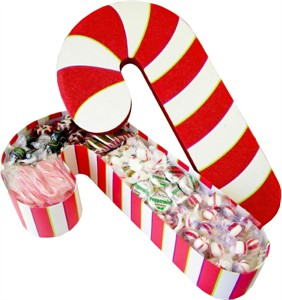 Deluxe Filled Candy Cane Box (Sold Out)