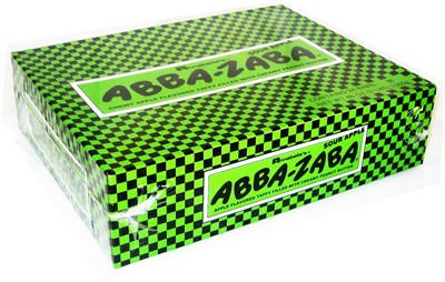 Abba Zaba Sour Apple Flavor 24ct. (DISCONTINUED)