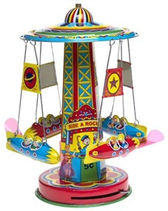 Rocket Ride Carousel Tin Toy (sold out)