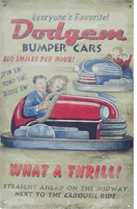 Dodgem Nostalgic Tin Sign (Discontinued)