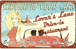 Drive-in Restaurant Nostalgic Tin Sign (Discontinued)
