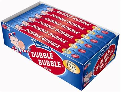 Dubble Bubble Big Bar Bubblegum - 24ct.