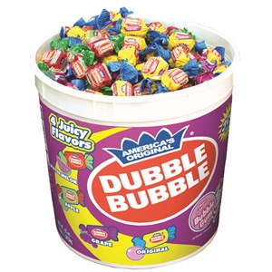 Dubble Bubble Assorted Bubble Gum 300ct. Tub (Sold Out)