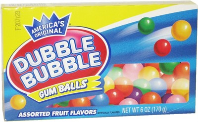 Dubble Bubble Gumballs Theater Size 6oz. (Discontinued)