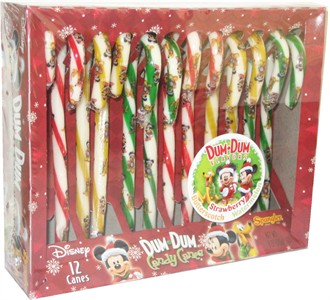Mickey Dum Dum Flavored Candy Canes 12ct. (Sold Out)