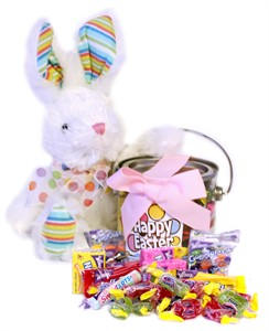 Easter Bunny with Assorted Candy filled Pail (Sold Out)