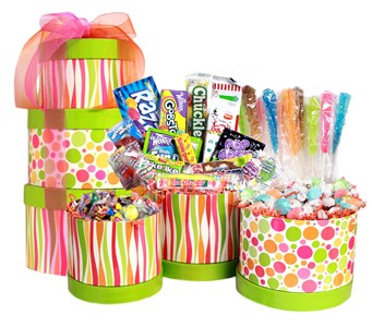 Easter Chocolate and Candy Gift Tower