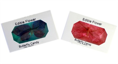 Edible Flower Butterfly Candy 4ct.