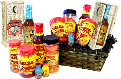 <strong>Hot Sauce and Salsa Gift Baskets&#9658;</strong>