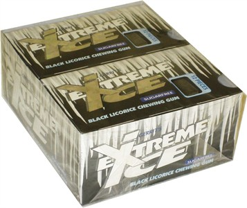 Extreme Ice Sugar Free Black Licorice Chewing Gum 12ct.