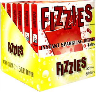 Fizzies Candy Drink Tablets - Cherry 6ct.