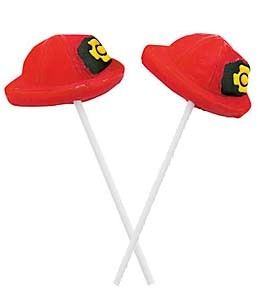 Firefighter Hat Suckers - 12ct.