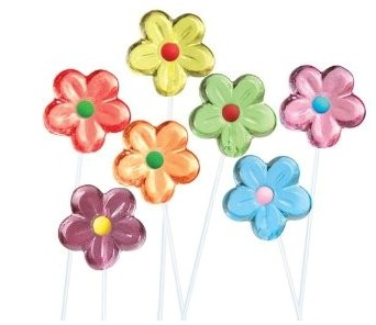 Flower Candy and Flower Lollipops
