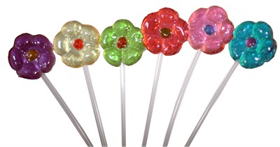 Flower Twinkle Pops Assorted 7 Flavors - 40ct.