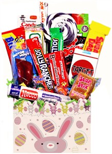 Easter Bunny Retro Candy Gift Basket