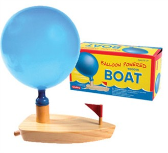 Balloon Powered Wooden Boat (Discontinued)