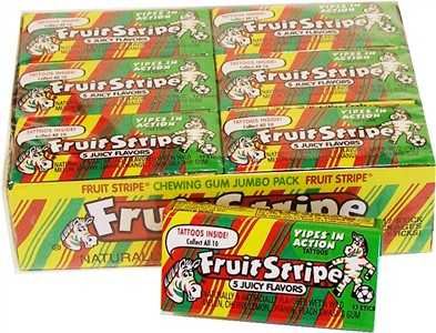 Fruit Stripe Chewing Gum 12ct