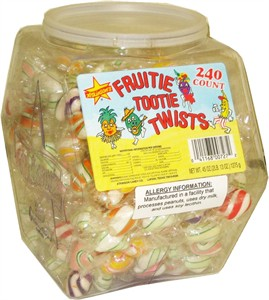 Fruitie Tootie Twists 240ct. Tub