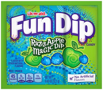 Wonka Fun Dip Lik-m-aid Razz Apple - 4ct.