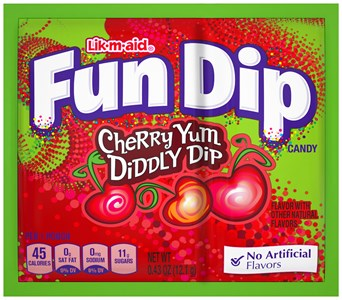 Wonka Fun Dip Lik-M-Aid Cherry Yum Diddly 4ct.