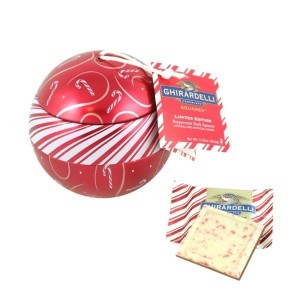 Ghirardelli Hanging Ornament Ball Peppermint Bark Squares (DISCONTINUED)